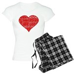 Follow Your Heart Red Typogra Women's Light Pajama