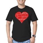 Follow Your Heart Red Typogra Men's Fitted T-Shirt