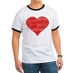 Follow Your Heart Red Typogra Ringer T