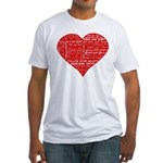 Follow Your Heart Red Typogra Fitted T-Shirt
