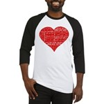 Follow Your Heart Red Typogra Baseball Jersey