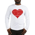 Follow Your Heart Red Typogra Long Sleeve T-Shirt