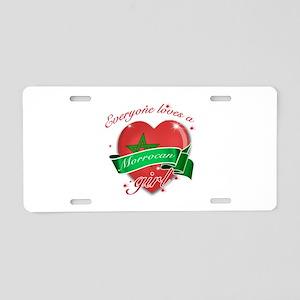I heart Moroccan Designs Aluminum License Plate