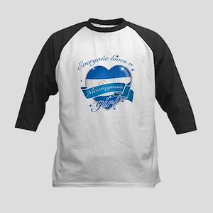 I heart Nicaraguan Designs Kids Baseball Jersey