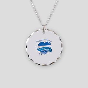 I heart Nicaraguan Designs Necklace Circle Charm
