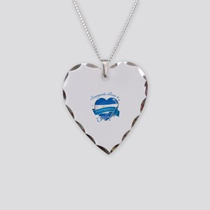 I heart Nicaraguan Designs Necklace Heart Charm