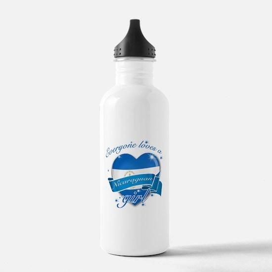 I heart Nicaraguan Designs Water Bottle