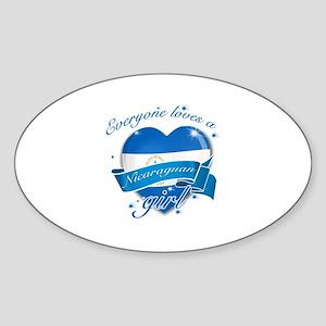 I heart Nicaraguan Designs Sticker (Oval)