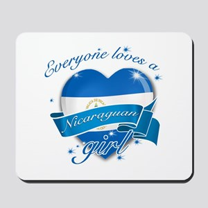 I heart Nicaraguan Designs Mousepad