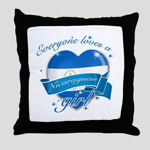 I heart Nicaraguan Designs Throw Pillow