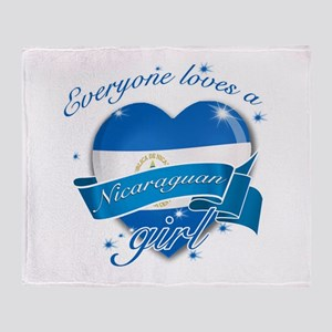 I heart Nicaraguan Designs Throw Blanket