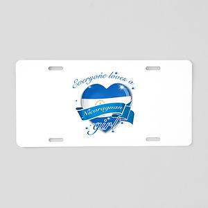 I heart Nicaraguan Designs Aluminum License Plate