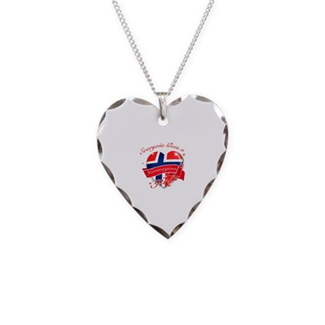 I heart Norwegian Designs Necklace Heart Charm
