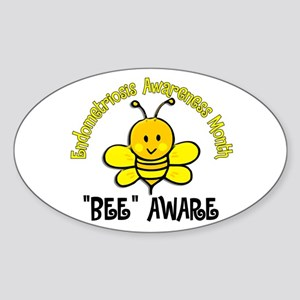 Endo Awareness Month Bee 2 Sticker (Oval)
