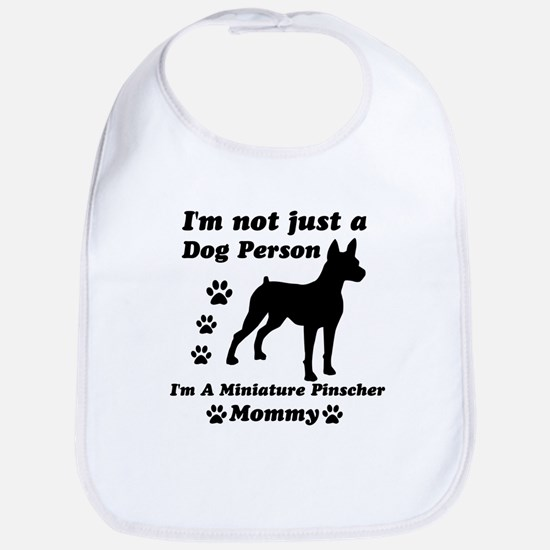 Miniature Pinscher Mommy Bib