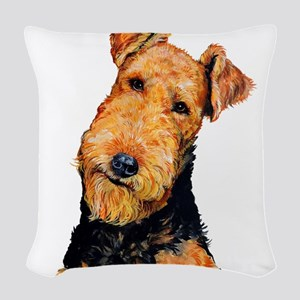 Airedale Terrier Woven Throw Pillow
