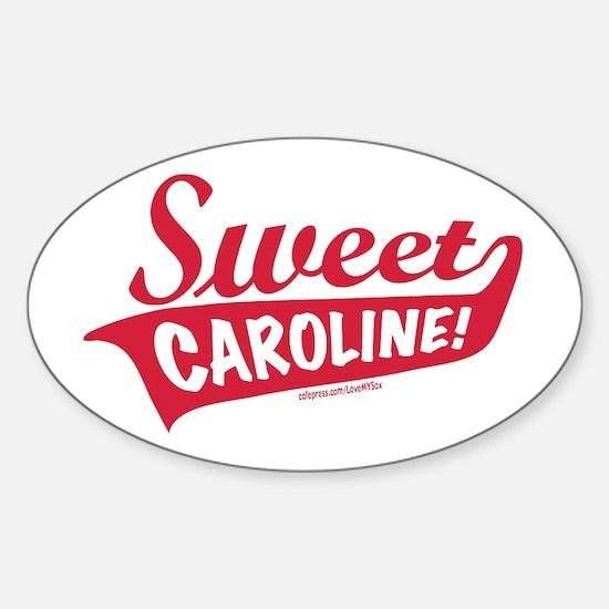 Sweet Caroline Boston Oval Decal