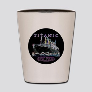 Titanic Neon (black) Shot Glass