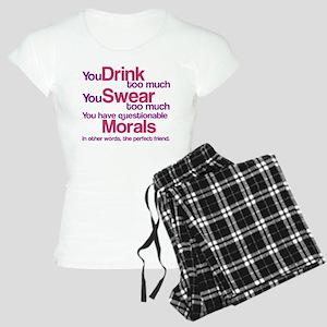 Drink Swear Morals Friend Women's Light Pajamas
