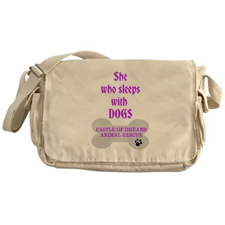 She Sleeps with Dogs Messenger Bag