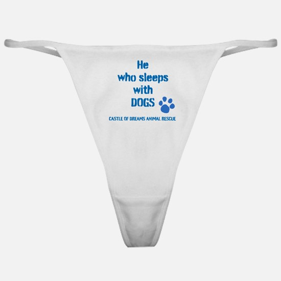 He sleeps with DOGS Classic Thong
