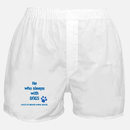 He sleeps with DOGS Boxer Shorts