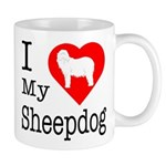 I Love My Bearded Collie Mug