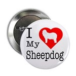 I Love My Bearded Collie 2.25