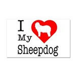I Love My Bearded Collie Car Magnet 20 x 12