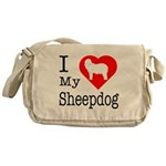I Love My Bearded Collie Messenger Bag