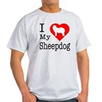 I Love My Bearded Collie Light T-Shirt