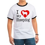 I Love My Bearded Collie Ringer T