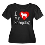 I Love My Bearded Collie Women's Plus Size Scoop N