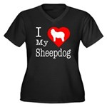 I Love My Bearded Collie Women's Plus Size V-Neck