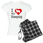 I Love My Bearded Collie Women's Light Pajamas