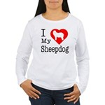 I Love My Bearded Collie Women's Long Sleeve T-Shi