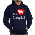 I Love My Bearded Collie Hoodie (dark)