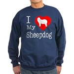 I Love My Bearded Collie Sweatshirt (dark)