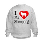 I Love My Bearded Collie Kids Sweatshirt