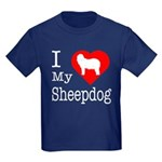 I Love My Bearded Collie Kids Dark T-Shirt