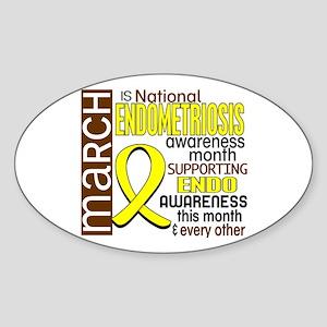 Endo Awareness Month I2 6 Sticker (Oval)