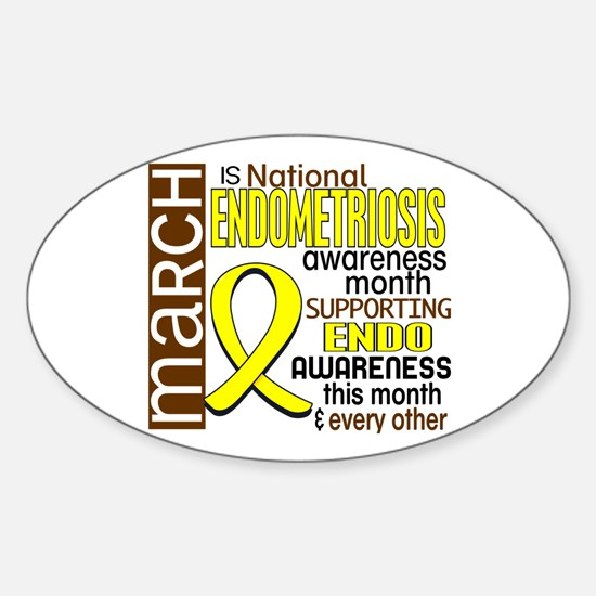 Endo Awareness Month I2 6 Sticker (Oval)