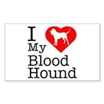 I Love My Bloodhound Sticker (Rectangle 10 pk)