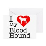 I Love My Bloodhound Greeting Cards (Pk of 20)