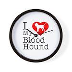 I Love My Bloodhound Wall Clock