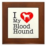 I Love My Bloodhound Framed Tile