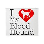 I Love My Bloodhound Throw Blanket