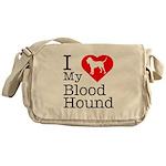 I Love My Bloodhound Messenger Bag