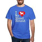 I Love My Bloodhound Dark T-Shirt