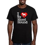 I Love My Bloodhound Men's Fitted T-Shirt (dark)